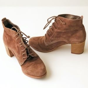 Dolce Vita Lace-Up Ankle Boots Hal Bootie Suede